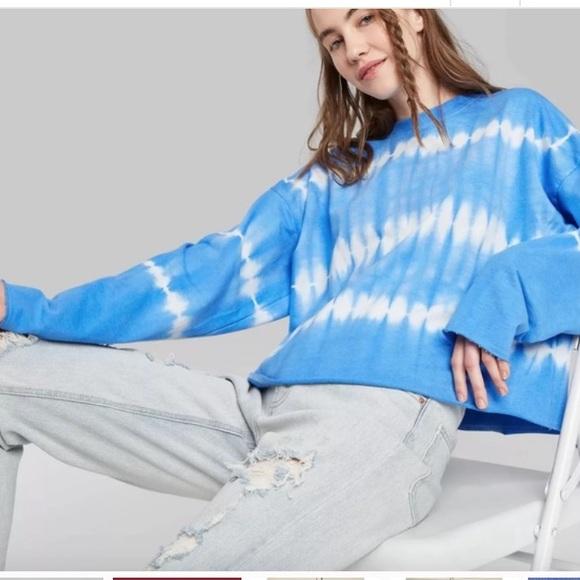 Women's Tie-Dye French Terry Sweatshirt XL